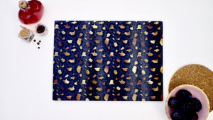Black and Gold Leopard Print 40cm x 30cm Worktop Saver