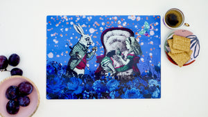 Alice in Wonderland Blue Hare 40cm x 30cm Worktop Saver