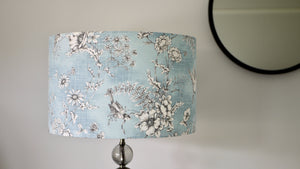 Load image into Gallery viewer, Blue Bird Lampshade Light Off