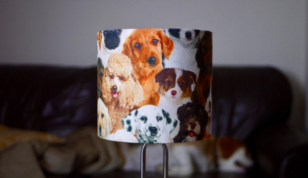 Crazy Dog Lampshade