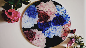 Load image into Gallery viewer, Floral Hydrangea Worktop Saver - Chopping Board - Placemat - Kitsch Republic