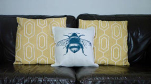 Load image into Gallery viewer, Bee Cushion - Canvas Feel Cushion inc. Inner 40cm x 40cm