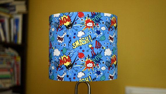 Blue Superhero Lampshade - Kitsch Republic