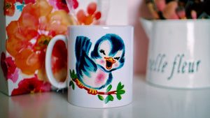 Kitsch / Retro Bird Mug