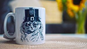 Load image into Gallery viewer, Steampunk Cat - Ceramic Mug - Kitsch Republic