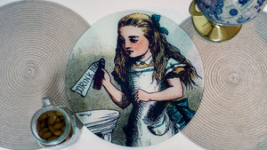 Load image into Gallery viewer, Alice in Wonderland Drink Me  Worktop Saver - Chopping Board - Placemat - Kitsch Republic