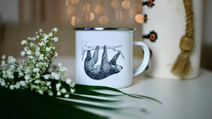 Load image into Gallery viewer, Sloth - Enamel Mug - Kitsch Republic