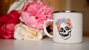 Laughing Skull - Enamel Mug