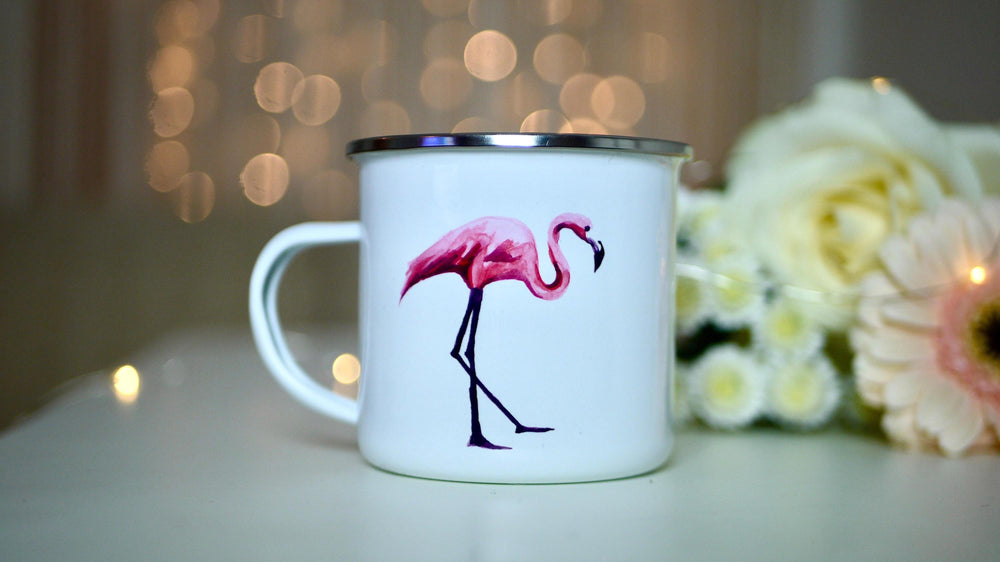Flamingo - Enamel Mug - Kitsch Republic