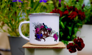Alice in Wonderland Cheshire Cat Enamel Mug