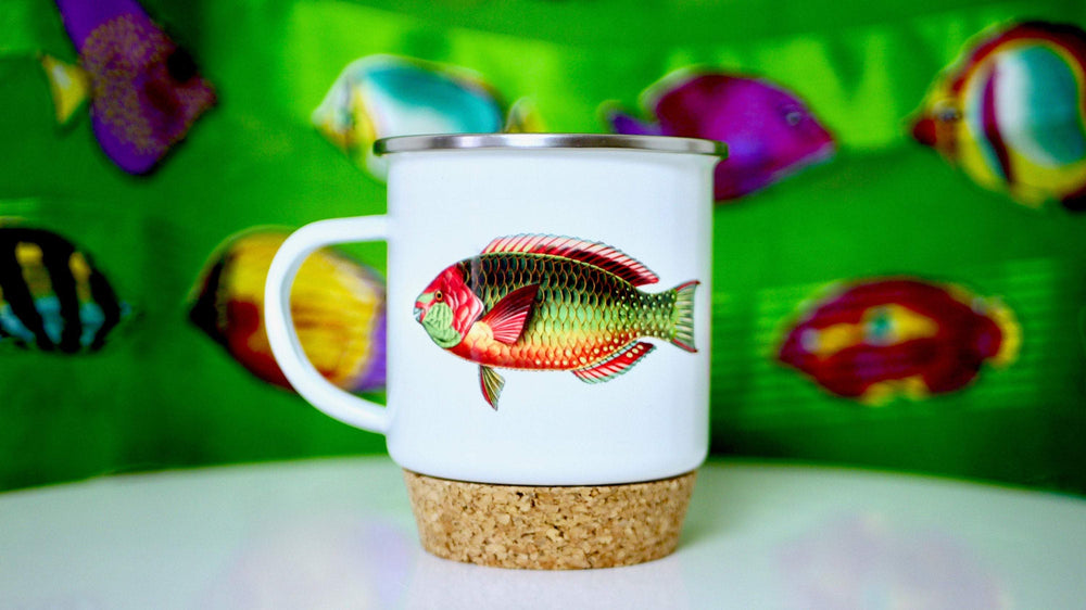 Rainbow Fish - Enamel Mug - Kitsch Republic