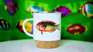 Load image into Gallery viewer, Rainbow Fish - Enamel Mug - Kitsch Republic