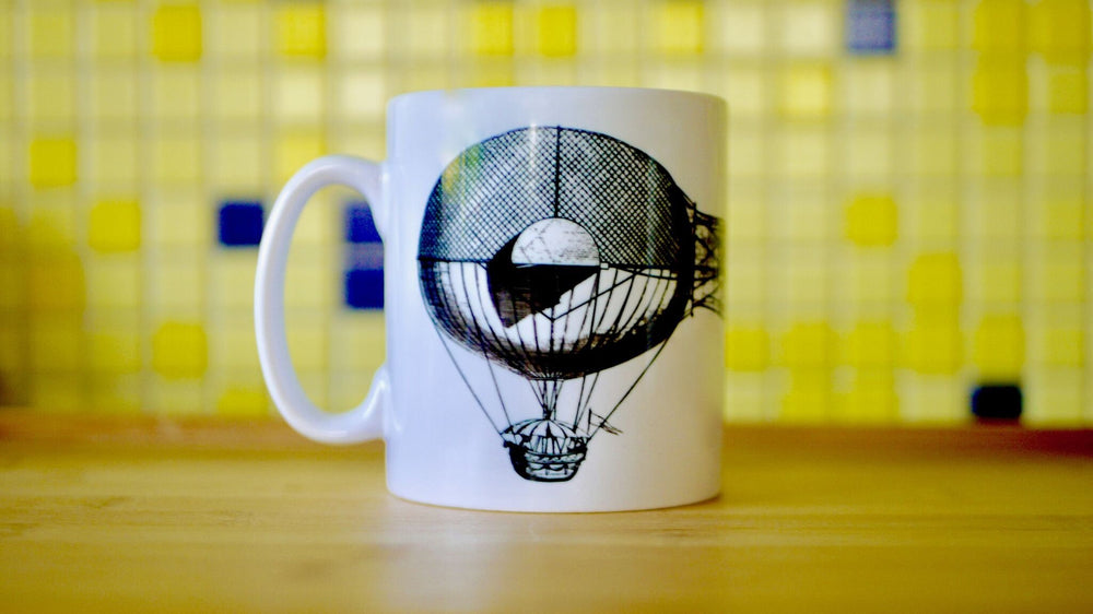 Load image into Gallery viewer, Steampunk Balloon - Ceramic Mug - Kitsch Republic