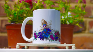 Alice in Wonderland - Purple Floral Ceramic Mug - Kitsch Republic