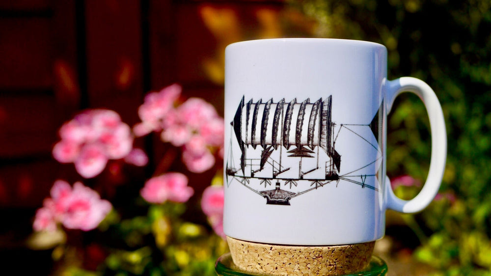 Load image into Gallery viewer, Steampunk Flying - Ceramic Mug - Kitsch Republic