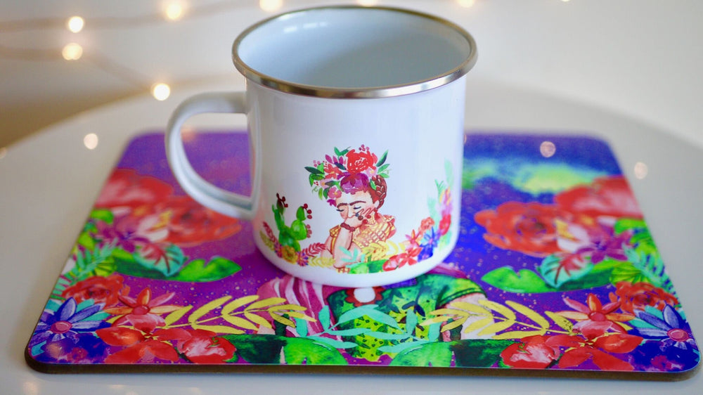 Load image into Gallery viewer, Frida Khalo - Enamel Mug - Kitsch Republic