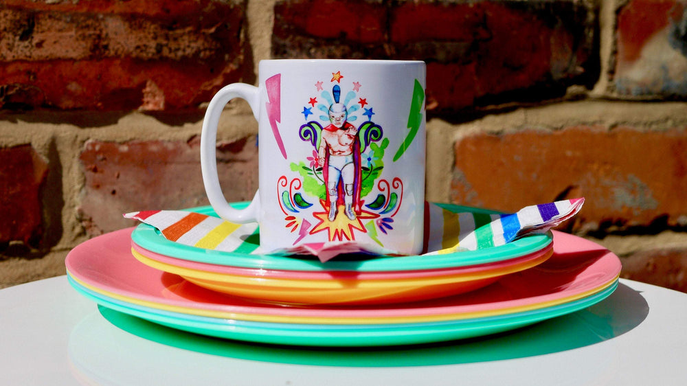 Load image into Gallery viewer, Lucha Libre Ceramic Mug - Kitsch Republic