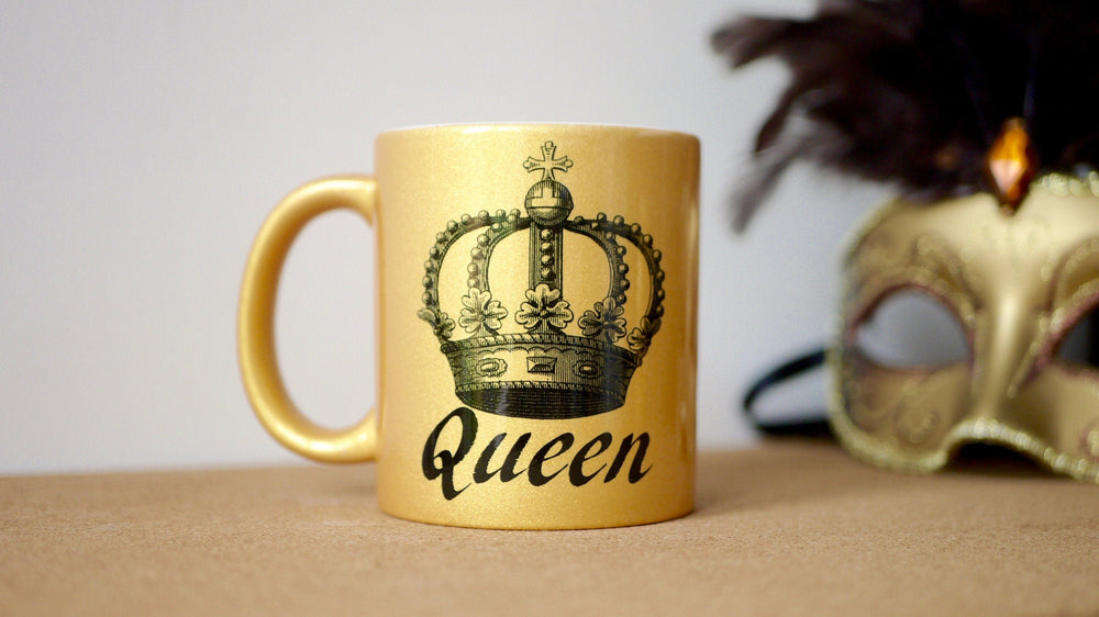 Load image into Gallery viewer, Gold Sparkle Queen - Ceramic Mug - Kitsch Republic