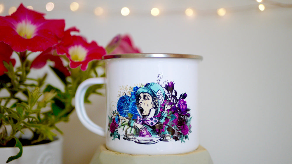Alice in Wonderland - Mad Hatter Enamel Mug - Kitsch Republic