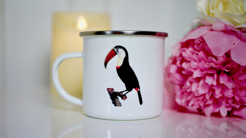 Toucan Tropical Birds - Enamel Mug - Kitsch Republic