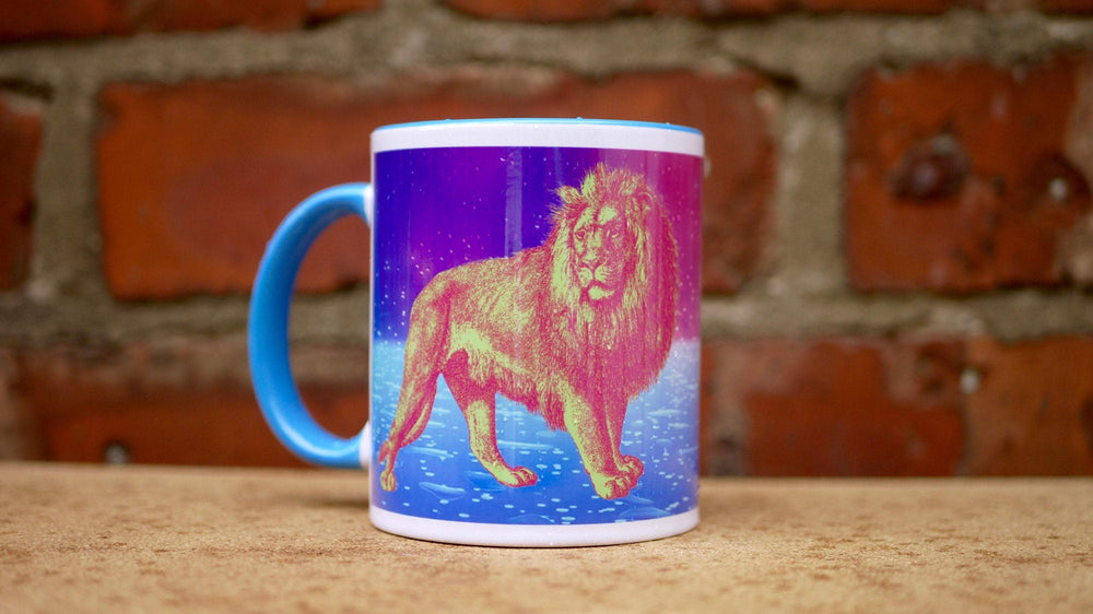 Load image into Gallery viewer, Neon Lion - Ceramic Mug - Kitsch Republic