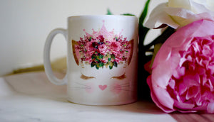 Load image into Gallery viewer, Cute Pink Cat - Ceramic Mug - Kitsch Republic