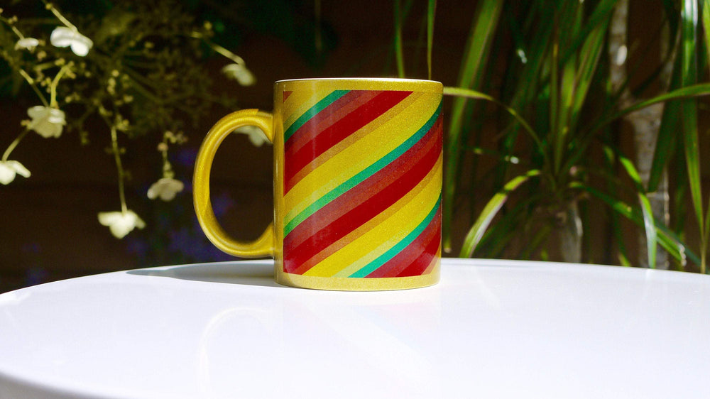 Gold Sparkle Rainbow - Ceramic Mug - Kitsch Republic
