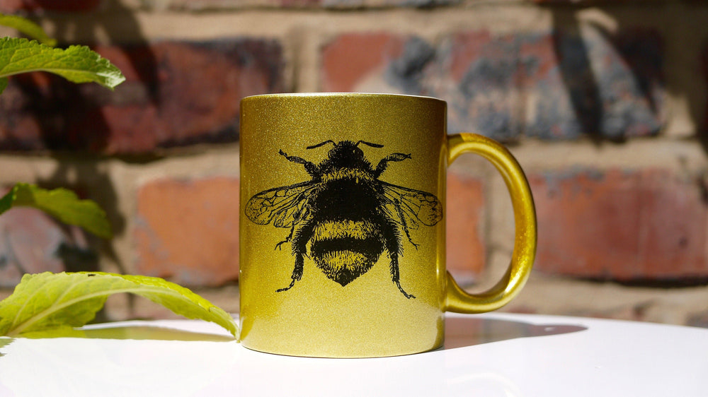Gold Sparkle Bee - Ceramic Mug - Kitsch Republic
