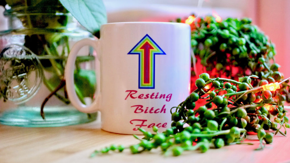 Load image into Gallery viewer, Resting Bitch Face - Ceramic Mug - Kitsch Republic