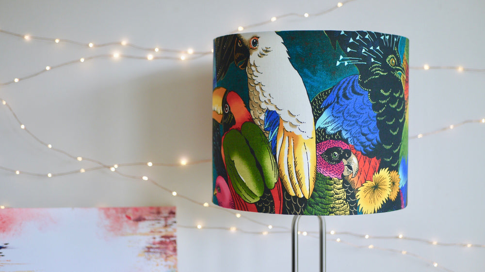 Load image into Gallery viewer, Topical Parrot Bird Lampsahde
