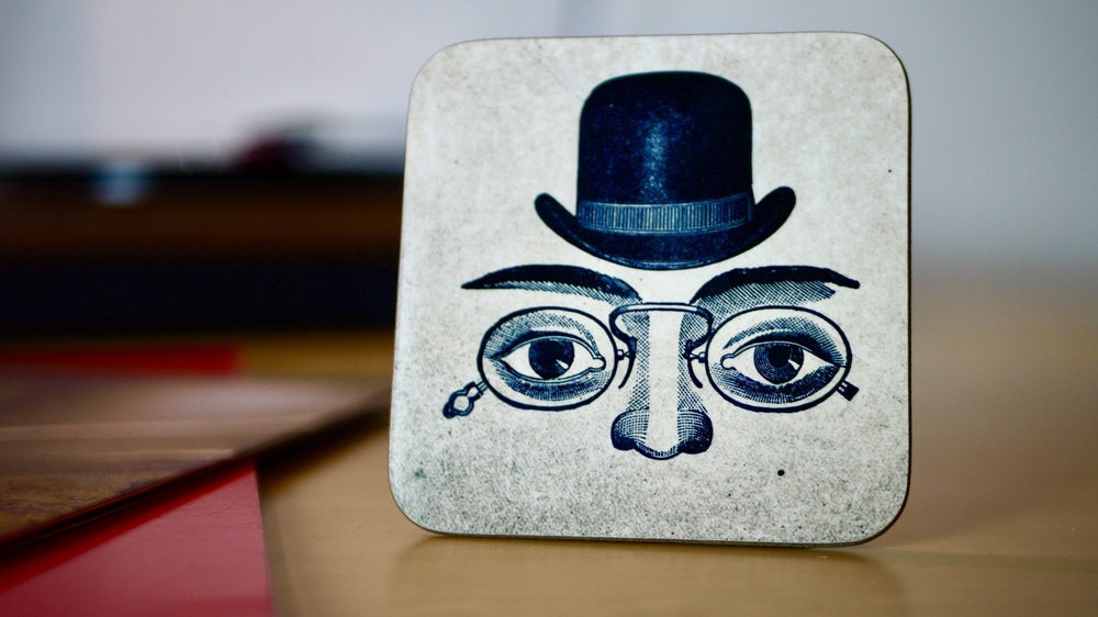 Load image into Gallery viewer, Man in Top Hat Coaster - Steampunk Collection - Kitsch Republic