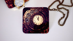 Load image into Gallery viewer, Steampunk Watch Clock Coaster - Steampunk Collection - Kitsch Republic