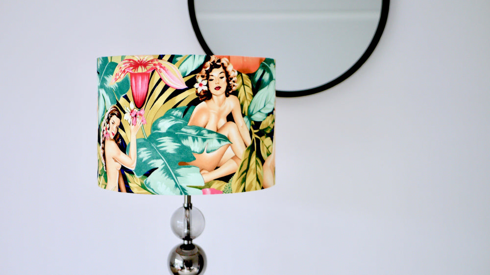 Tropical Pin Up Lampshade - Kitsch Republic