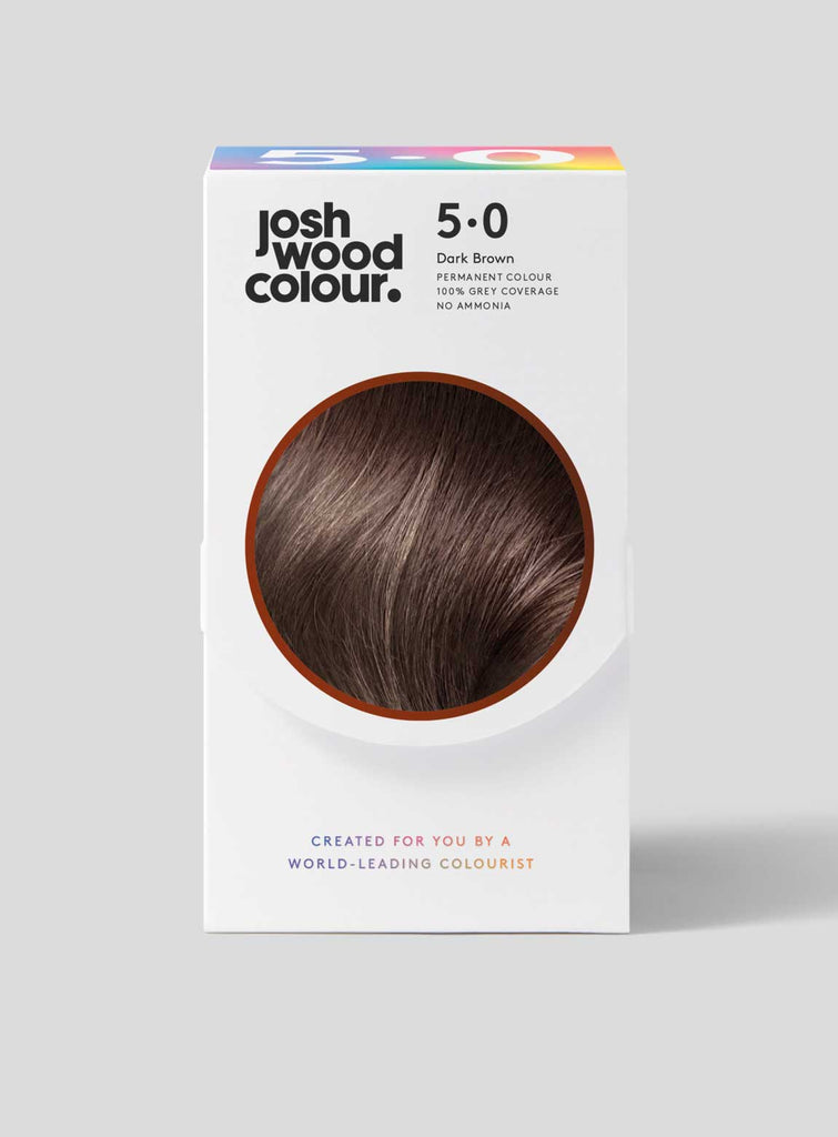 Permanent Colour 5.0 - Dark Mid Brown - Josh Wood dark hair, grey coverage, klaviyo - category - colour, klaviyo - shade - dark, klaviyo - type - permanent colour, winner, ygroup_perm5-0