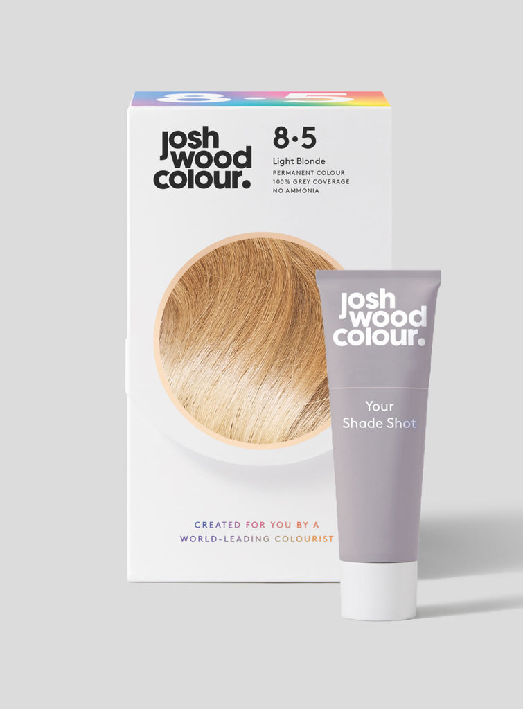 Permanent Colour 8.5 + Shade Shot - Light Blonde - Josh Wood Hair Colour at Home