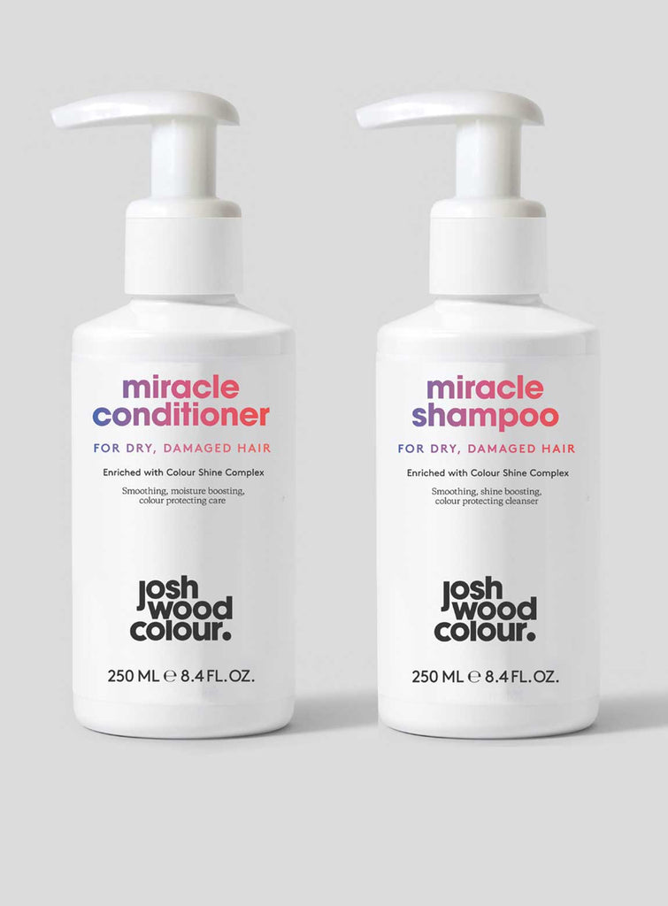 Miracle Shampoo and Conditioner for Dry, Damaged Hair - Josh Wood Hair Colour at Home