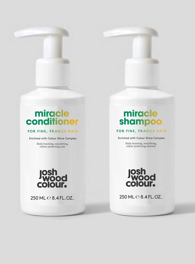 Miracle Shampoo and Conditioner for Fine, Fragile Hair - Josh Wood Hair Colour at Home