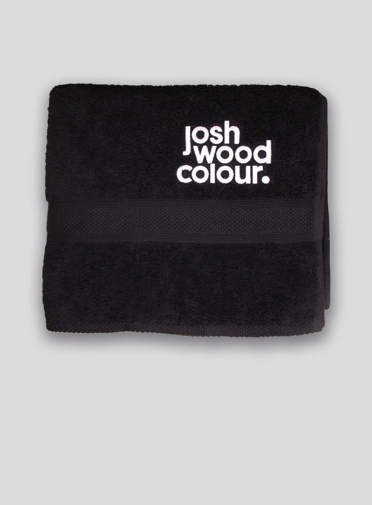 Colour Towel - Medium (50cm x 90cm) - Josh Wood dark hair, grey coverage, light hair, towel