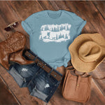 hiking with dog womens shirt