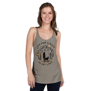 Hiking Dog Women's Racerback Tank