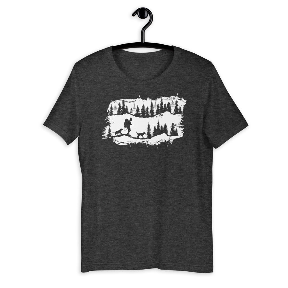 hiking dog t-shirt