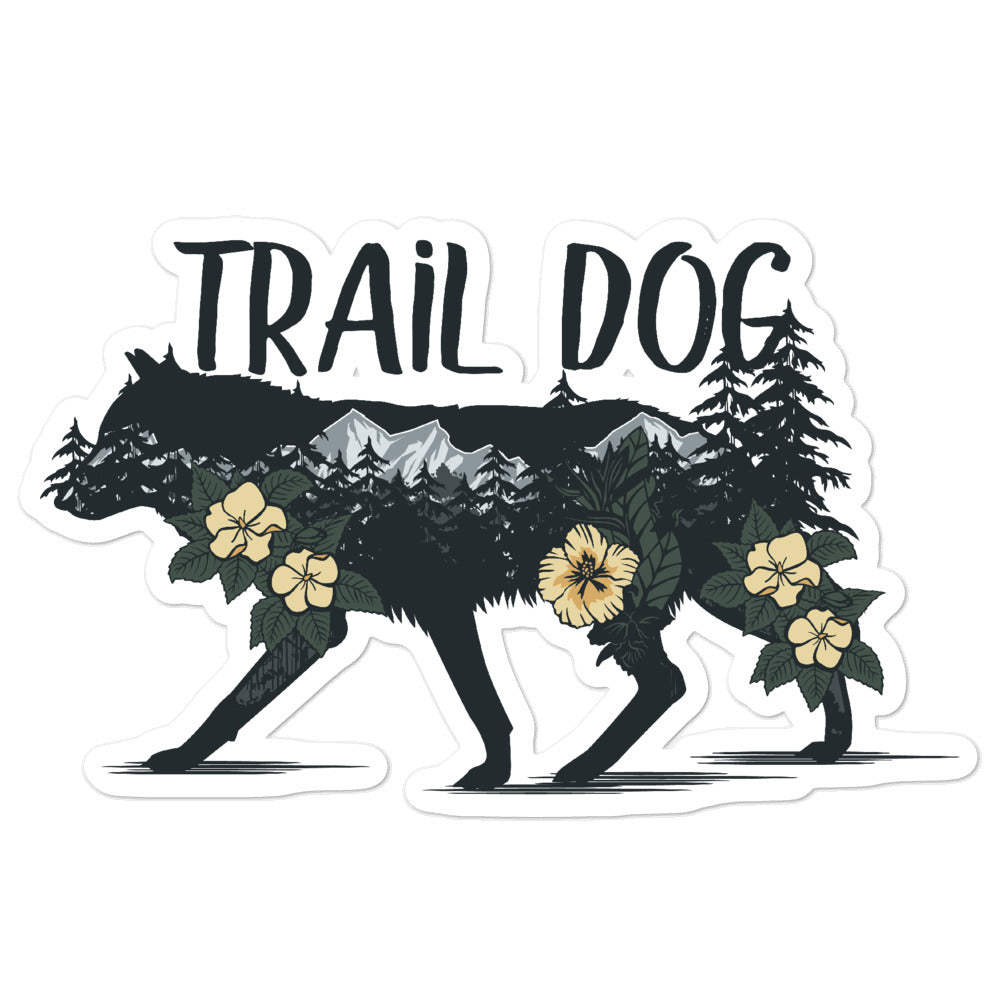 trail dog stickers