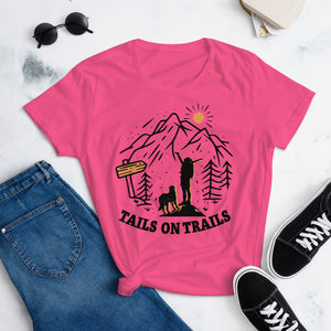 Women's Tails On Trails t-shirt