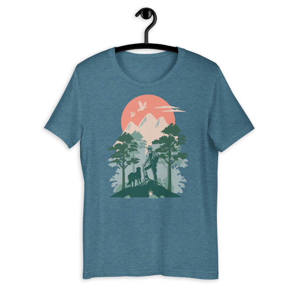 hiking dog tee