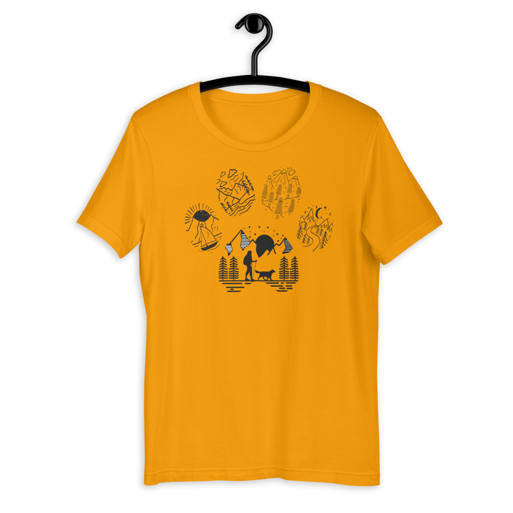 Dog Paw Illustrated Short-Sleeve Unisex T-Shirt