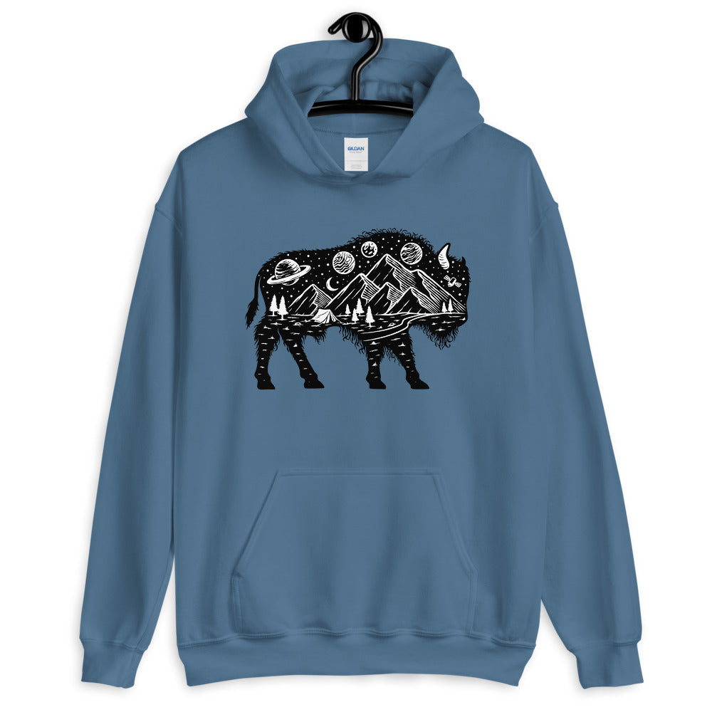 bison hooded sweater