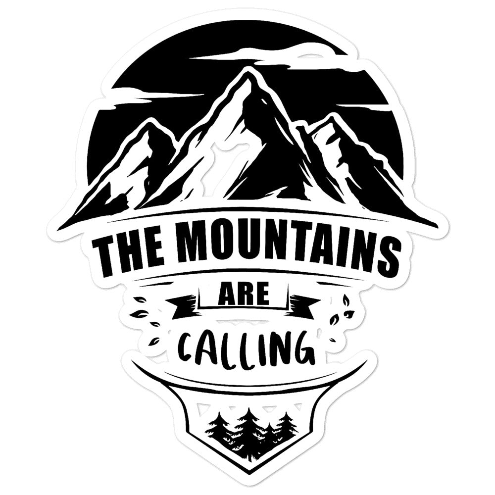 the mountains are calling stickers