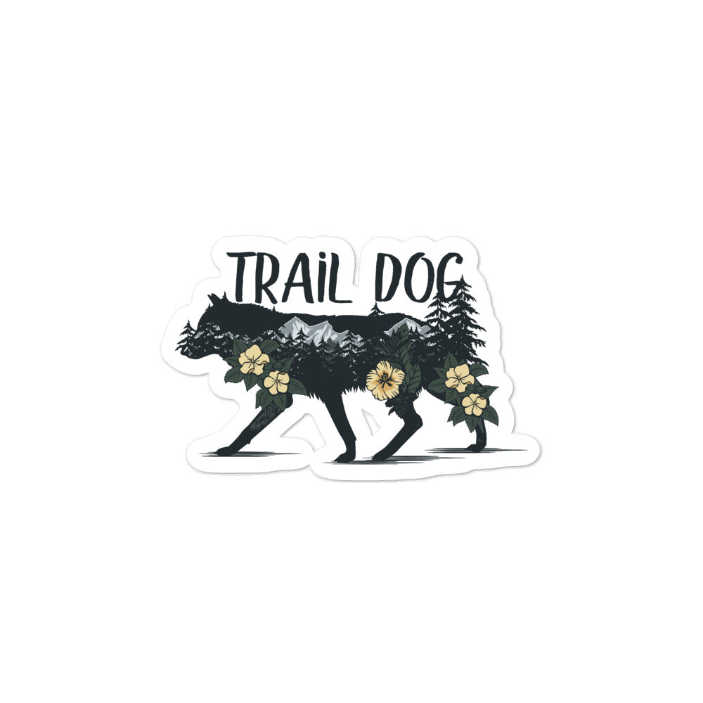 hiking dog stickers