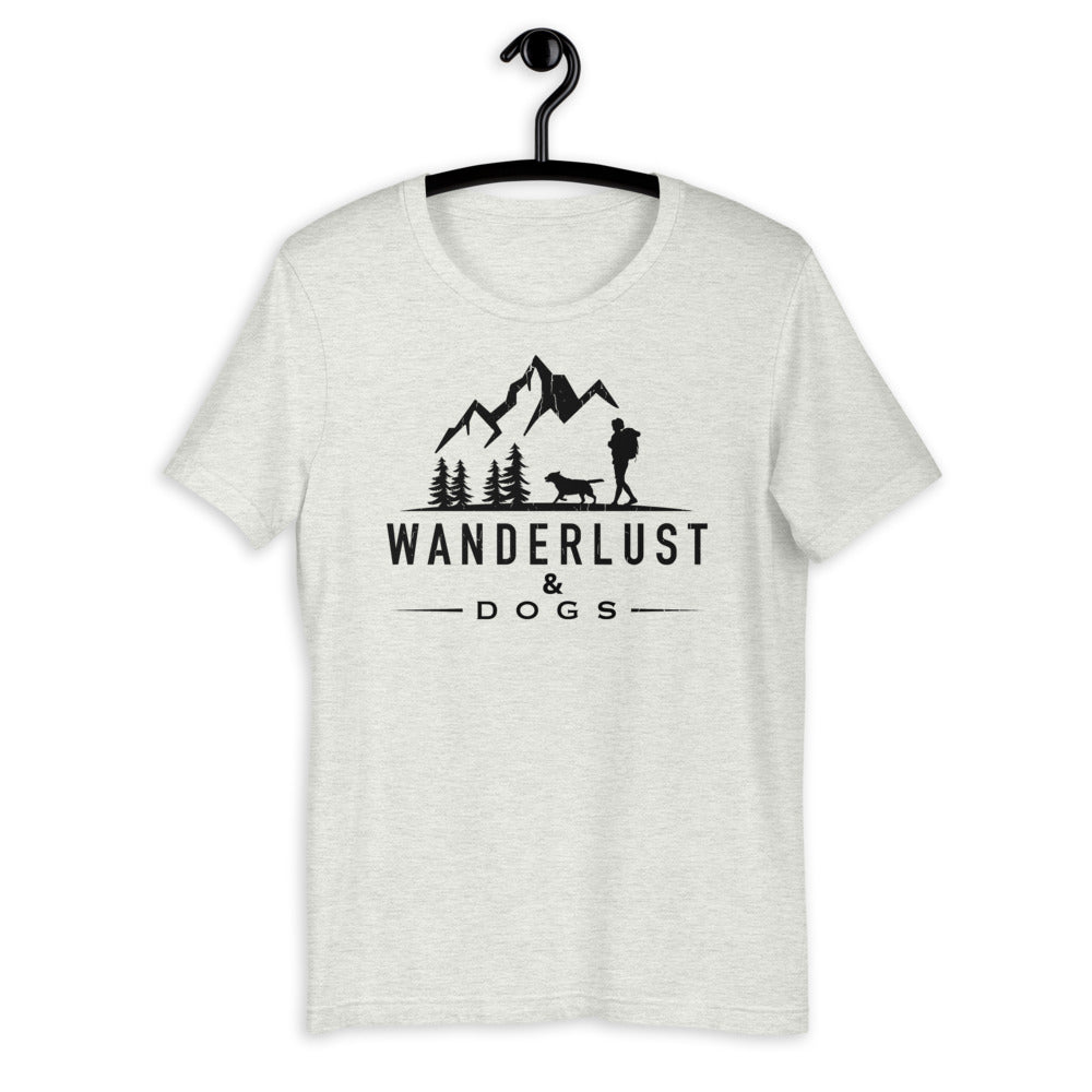 Wanderlust & Dogs Short-Sleeve Unisex T-Shirt