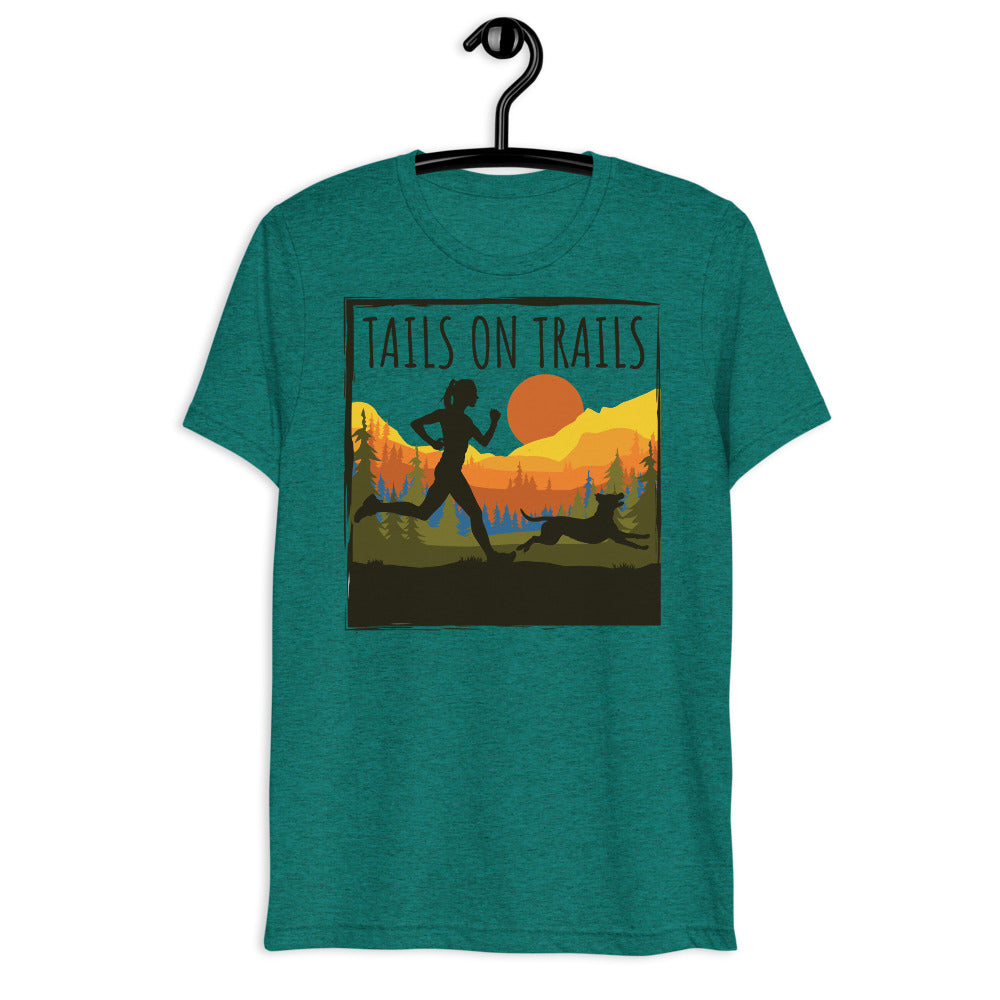tails on trails womens t-shirt